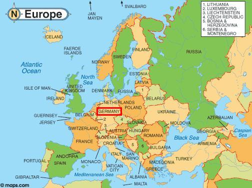 Map Of Europe And Germany The ...